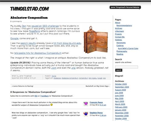 Thingelstad.com