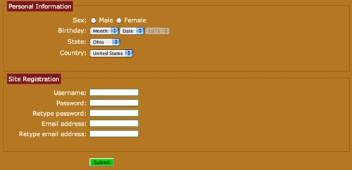 CSS3 form