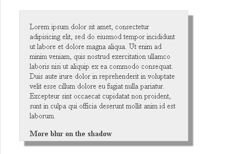 CSS3 Shadow