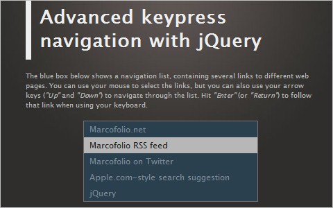 Advanced keypress navigation with jQuery