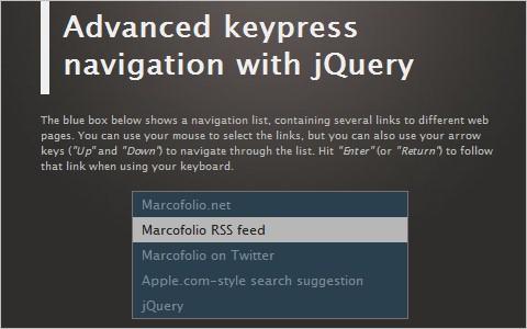 Advanced keypress navigation with jQuery