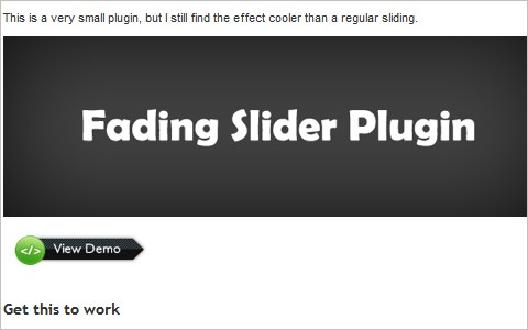 jQuery fade and slide toggle plugin Të  Position Absolute