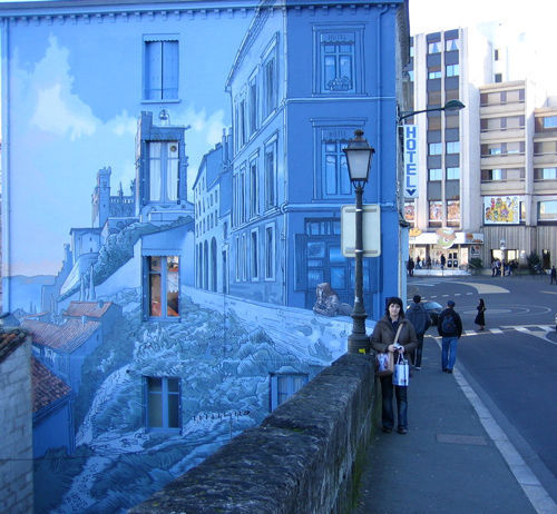 60 marvellous wall paintings and 3 d street art noupe for 3d street painting mural art