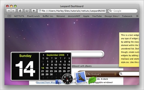 Leopard Desktop with jQuery using jqDock - Nettuts+