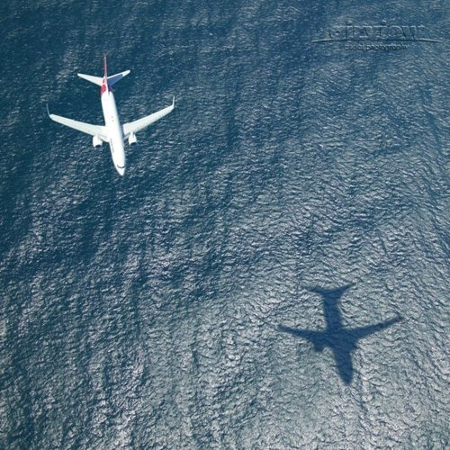 Aerial Photography - Qantas Shadow