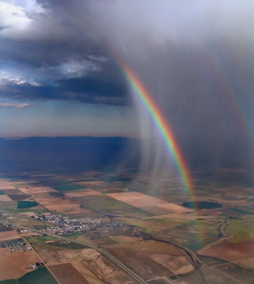 Aerial Photography - double rainbow by Zasu