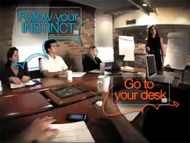 Screenshot of Follow Your Instinct Video
