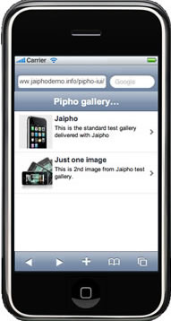 Pipho -PHP iPhone Optimized Image Gallery