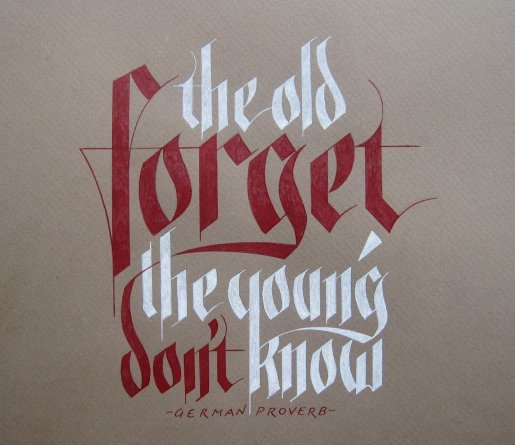 Forget-calligraphy in Calligraphy and Handwriting Showcase