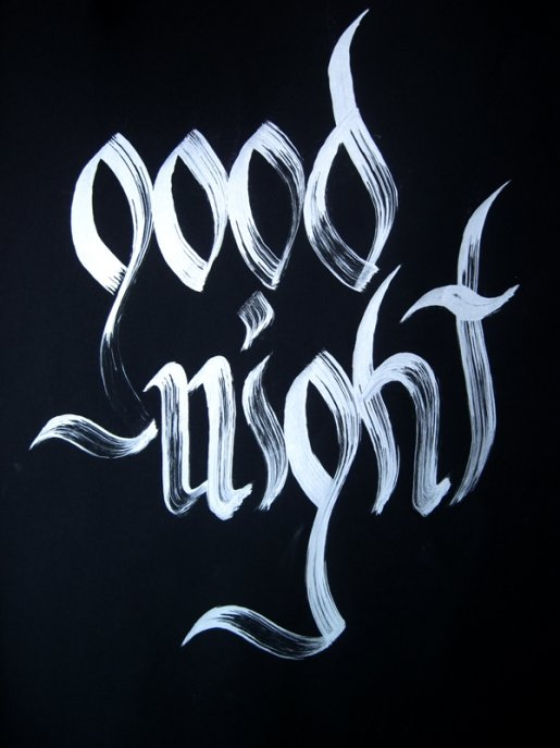 Goodnight in Calligraphy and Handwriting Showcase