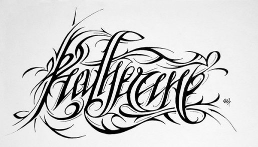Katherine-calligraphy in Calligraphy and Handwriting Showcase
