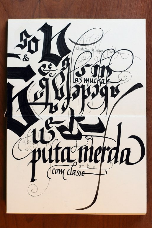Puta-calligraphy in Calligraphy and Handwriting Showcase