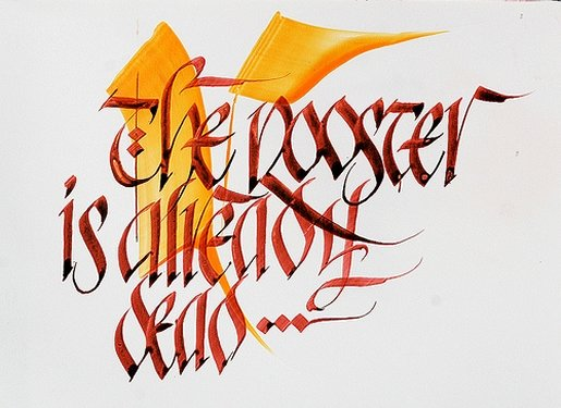 Rooster-calligraphy in Calligraphy and Handwriting Showcase