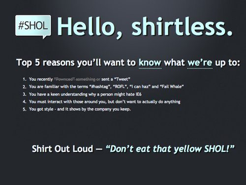 Shirt Out Loud