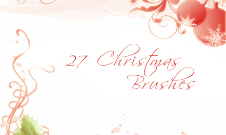 Christmas Brushes Set 2-christmas in The Ultimate Christmas Round-Up: Patterns, Brushes, Vectors and Fonts