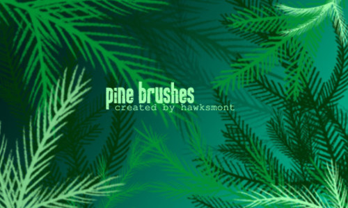 Pine Brushes MEGA PACK By Hawksmont-christmas in The Ultimate Christmas Round-Up: Patterns, Brushes, Vectors and Fonts