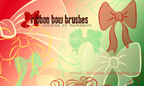 Ribbon Bow Brushes-christmas in The Ultimate Christmas Round-Up: Patterns, Brushes, Vectors and Fonts