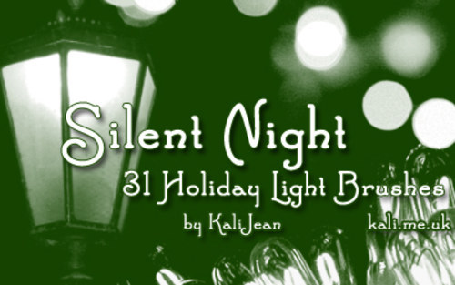 Silent Night Holiday Brushes-christmas in The Ultimate Christmas Round-Up: Patterns, Brushes, Vectors and Fonts