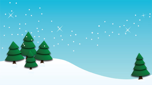 Winter-Trees-Background-christmas in The Ultimate Christmas Round-Up: Patterns, Brushes, Vectors and Fonts