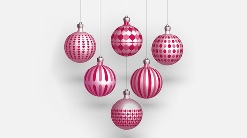 Balls-christmas in The Ultimate Christmas Round-Up: Patterns, Brushes, Vectors and Fonts