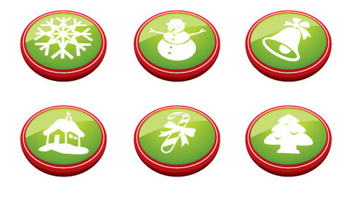 Christmas Buttons-christmas in The Ultimate Christmas Round-Up: Patterns, Brushes, Vectors and Fonts