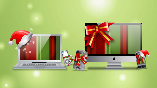 Gadget-icon-christmas in The Ultimate Christmas Round-Up: Patterns, Brushes, Vectors and Fonts