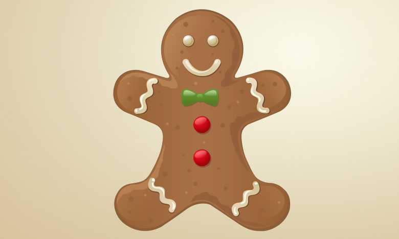 Ginger-bread-christmas in The Ultimate Christmas Round-Up: Patterns, Brushes, Vectors and Fonts