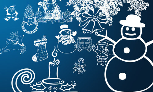 Lovely-christmas in The Ultimate Christmas Round-Up: Patterns, Brushes, Vectors and Fonts