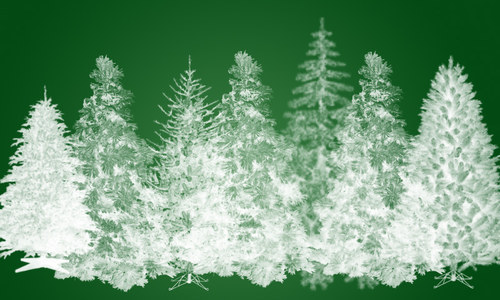 Realistic-tree-christmas in The Ultimate Christmas Round-Up: Patterns, Brushes, Vectors and Fonts