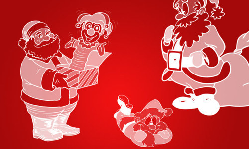Snata Brushes-christmas in The Ultimate Christmas Round-Up: Patterns, Brushes, Vectors and Fonts