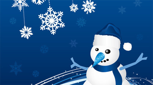Snowman Greeting Card-christmas in The Ultimate Christmas Round-Up: Patterns, Brushes, Vectors and Fonts
