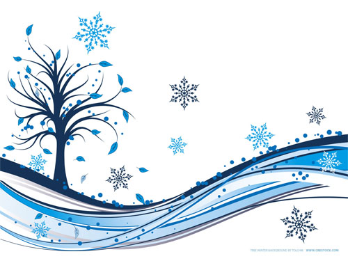 Wallpaper-blue-swirls-tree-snowflake in Beautiful Christmas and Winter Wallpapers For Your Desktop