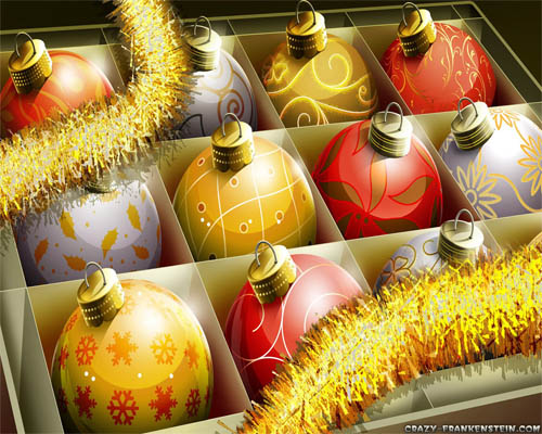 Wallpaper-christmas-ornaments-red-gold in Beautiful Christmas and Winter Wallpapers For Your Desktop