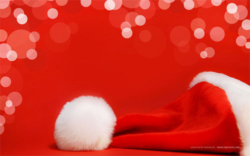 Wallpaper-red-santa-hat in Beautiful Christmas and Winter Wallpapers For Your Desktop