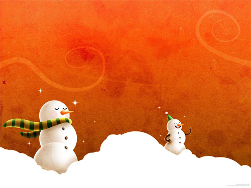 Wallpaper-snowman-christmas-4 in Beautiful Christmas and Winter Wallpapers For Your Desktop