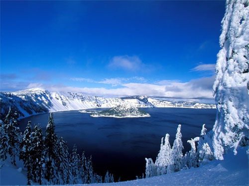 Wallpaper-winter-crater-lake in Beautiful Christmas and Winter Wallpapers For Your Desktop