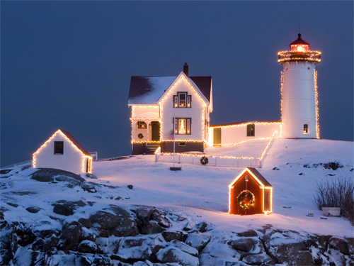 Wallpapers-winter-christmas-lighthouse in Beautiful Christmas and Winter Wallpapers For Your Desktop