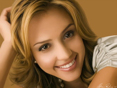 Jessica Alba Digital Portrait
