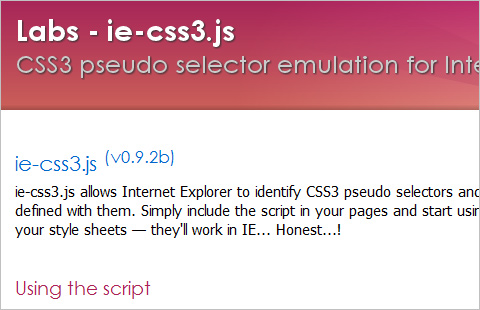 IE CSS3