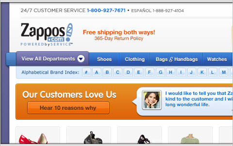 You're killing me, Zappos