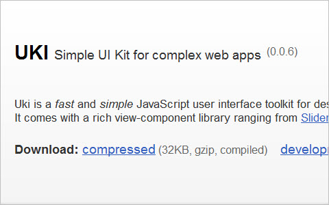 UKI - Simple UI Kit for complex web apps