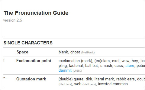 ASCII Table - The Pronunciation Guide