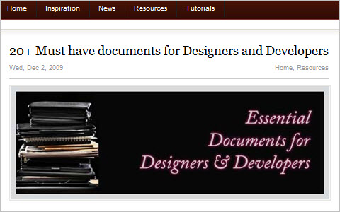 20+ Must have documents for Designers and Developers