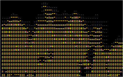 ASCII Fire Animation with JavaScript