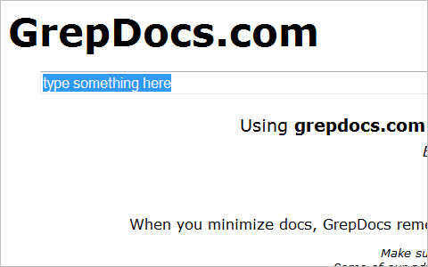GrepDocs.com - all your docs are belong to us - PHP, Perl, CSS, HTML, Java, JavaScript, MySQL, Ruby, Python, and more
