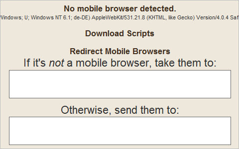 Detect Mobile Browser