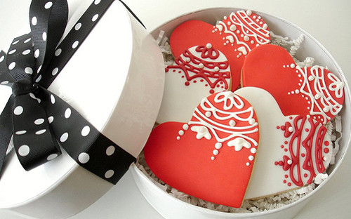 Valentine Lace Heart - Gift box
