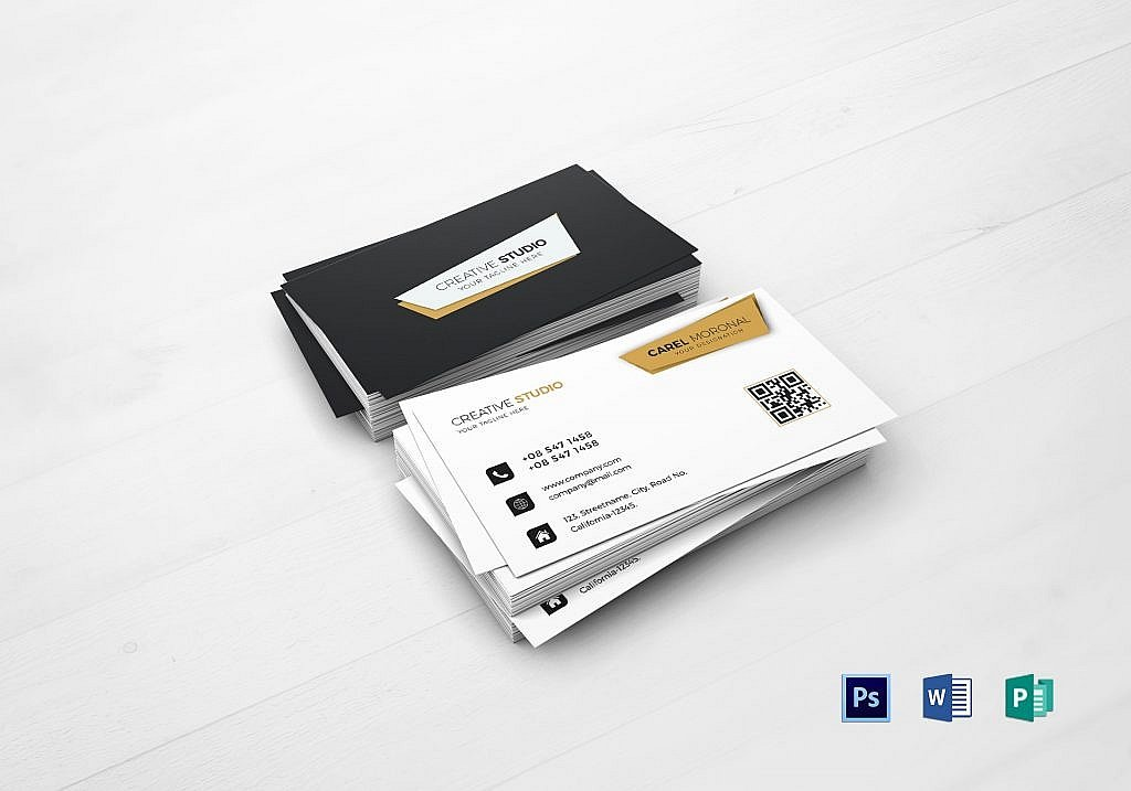 55 beautiful business card designs the jotform blog creative individual business card template by besttemplates fbccfo Images