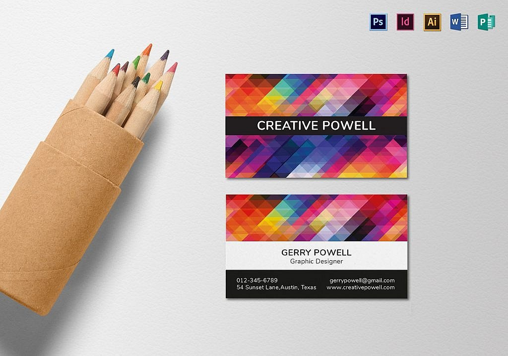 55 beautiful business card designs the jotform blog creative individual business card template by besttemplates accmission Image collections