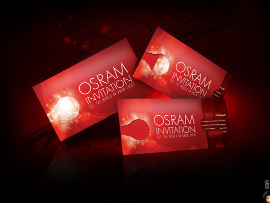 Business Card Design: mohamedsaleh - Osram Invitation